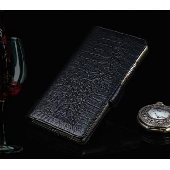Кожаный чехол портмоне (нат. кожа крокодила) с застёжкой для Philips Xenuim V526