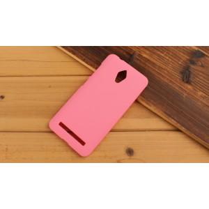 Пластиковый матовый металлик чехол для ASUS Zenfone Go Розовый