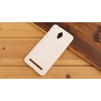 Пластиковый матовый металлик чехол для ASUS Zenfone Go Белый