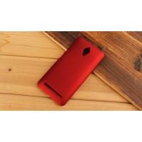 Пластиковый матовый металлик чехол для ASUS Zenfone Go Красный