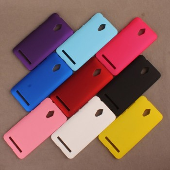Пластиковый матовый металлик чехол для ASUS Zenfone Go
