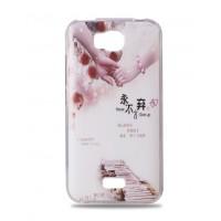 Силиконовый дизайнерский чехол с принтом для Huawei Y5c