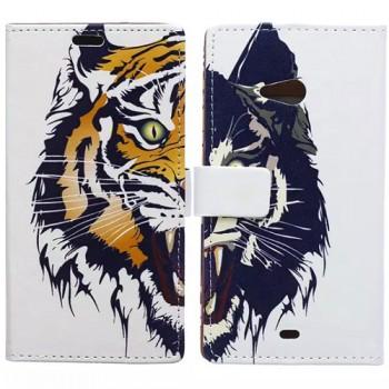 Дизайнерский чехол портмоне подставка с полноповерхностным принтом и застежкой  для Huawei Y5c