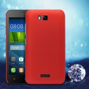 Пластиковый матовый металлик чехол для Huawei Y5c