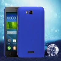 Пластиковый матовый металлик чехол для Huawei Y5c Синий