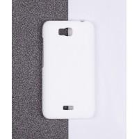 Пластиковый матовый непрозрачный чехол для Huawei Y5c Белый