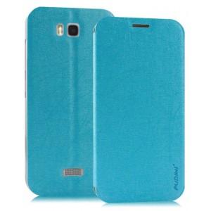 Текстурный чехол флип подставка на пластиковой основе для Huawei Y5c Синий