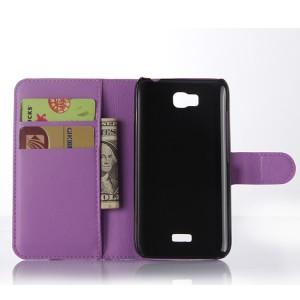 Чехол портмоне подставка с защелкой для Huawei Y5c Фиолетовый