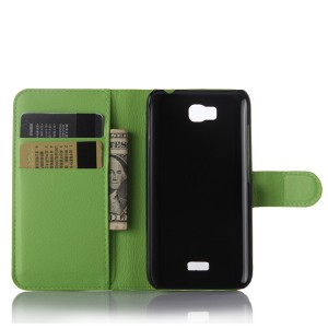 Чехол портмоне подставка с защелкой для Huawei Y5c Зеленый