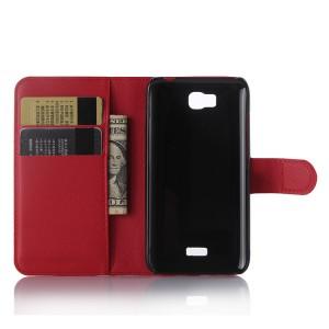 Чехол портмоне подставка с защелкой для Huawei Y5c Красный
