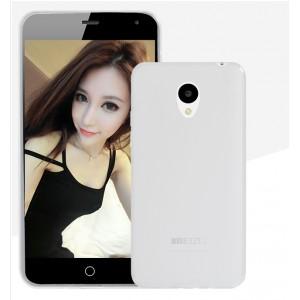 Силиконовый матовый полупрозрачный чехол для Meizu M2 Mini Белый