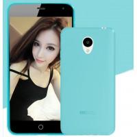 Силиконовый матовый полупрозрачный чехол для Meizu M2 Mini Голубой