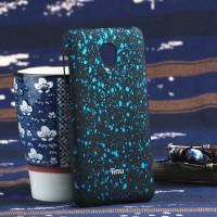Пластиковый матовый непрозрачный чехол с голографическим принтом Звезды для Meizu M2 Mini Голубой