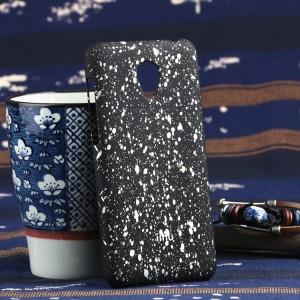 Пластиковый матовый непрозрачный чехол с голографическим принтом Звезды для Meizu M2 Mini Белый