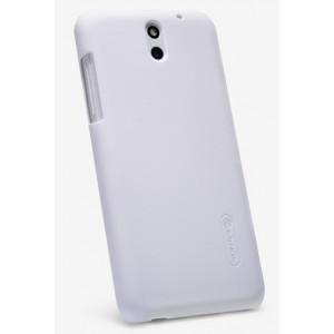 Пластиковый матовый премиум чехол для HTC Desire 610 Белый