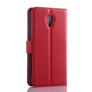 Чехол портмоне подставка на пластиковой основе с защелкой для Meizu M2 Mini Красный