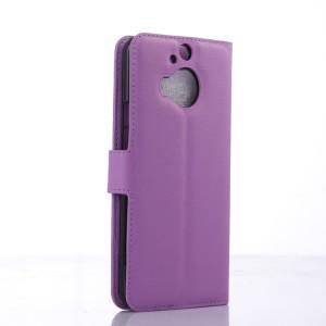 Кожаный чехол портмоне подставка на силиконовой основе с защелкой для HTC One M9+