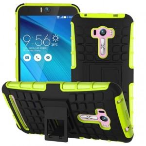 Силиконовый чехол экстрим защита для ASUS Zenfone Selfie Зеленый
