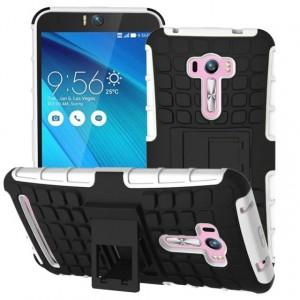 Силиконовый чехол экстрим защита для ASUS Zenfone Selfie Белый