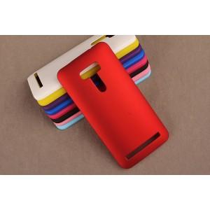Пластиковый матовый непрозрачный чехол для ASUS Zenfone Selfie Красный
