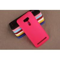 Пластиковый матовый непрозрачный чехол для ASUS Zenfone Selfie Пурпурный