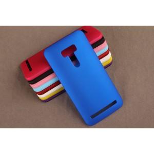 Пластиковый матовый непрозрачный чехол для ASUS Zenfone Selfie Синий
