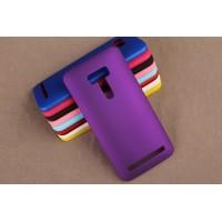 Пластиковый матовый непрозрачный чехол для ASUS Zenfone Selfie Фиолетовый