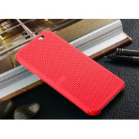 Точечный чехол смарт флип с функциями оповещения для HTC One M9+ Красный