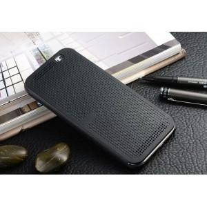Точечный чехол смарт флип с функциями оповещения для HTC One M9+ Черный