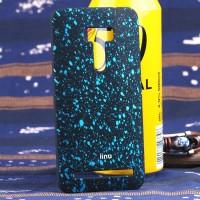 Пластиковый матовый дизайнерский чехол с голографическим принтом Звезды для ASUS Zenfone Selfie Голубой