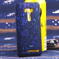 Пластиковый матовый дизайнерский чехол с голографическим принтом Звезды для ASUS Zenfone Selfie Синий