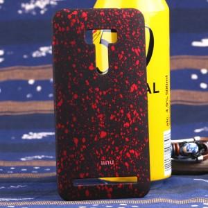 Пластиковый матовый дизайнерский чехол с голографическим принтом Звезды для ASUS Zenfone Selfie Красный