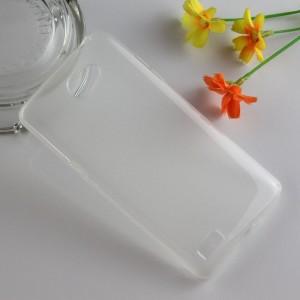 Силиконовый матовый чехол для LG Max Белый