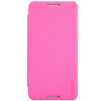 Тонкий чехол флип для HTC Desire 610 Пурпурный