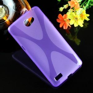 Силиконовый X чехол для LG Max Фиолетовый
