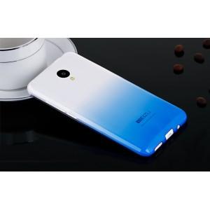 Силиконовый градиентный полупрозрачный чехол для Meizu M2 Mini Синий