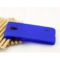 Пластиковый матовый металлик чехол для Meizu M2 Mini Синий
