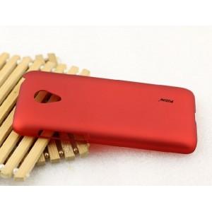 Пластиковый матовый металлик чехол для Meizu M2 Mini Красный