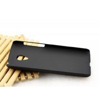 Пластиковый матовый металлик чехол для Meizu M2 Mini Черный
