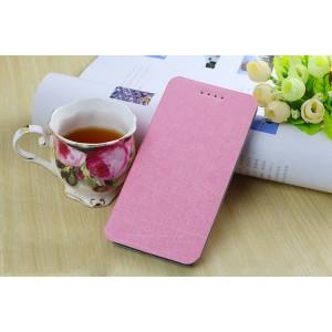 Текстурный чехол флип подставка на присоске для ASUS Zenfone Selfie Розовый