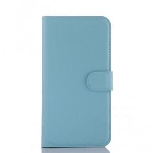 Чехол портмоне подставка с крепежной застежкой для ASUS Zenfone Selfie Голубой