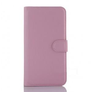 Чехол портмоне подставка с крепежной застежкой для ASUS Zenfone Selfie Розовый
