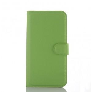 Чехол портмоне подставка с крепежной застежкой для ASUS Zenfone Selfie Зеленый