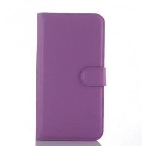 Чехол портмоне подставка с крепежной застежкой для ASUS Zenfone Selfie Фиолетовый