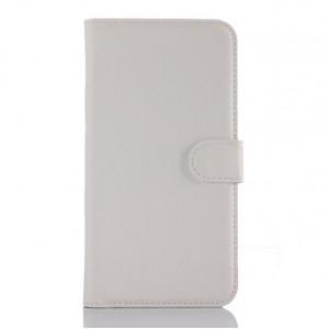 Чехол портмоне подставка с крепежной застежкой для ASUS Zenfone Selfie Белый