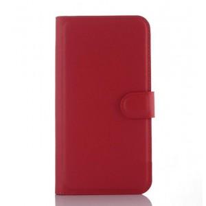 Чехол портмоне подставка с крепежной застежкой для ASUS Zenfone Selfie Красный