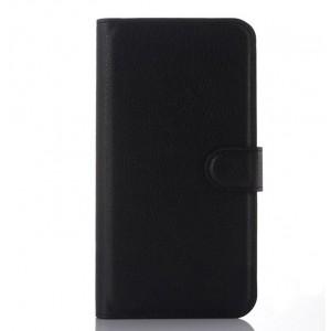Чехол портмоне подставка с крепежной застежкой для ASUS Zenfone Selfie Черный