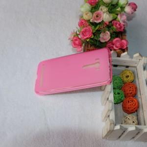Силиконовый матовый полупрозрачный чехол для ASUS Zenfone Selfie Розовый