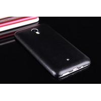 Чехол из жесткого силикона с кожаным покрытием для Meizu M1 Note Черный