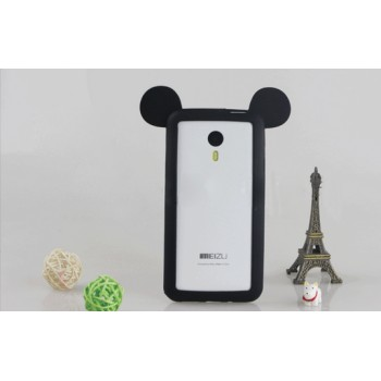 Силиконовый дизайнерский фигурный бампер Микки для Meizu M1 Note